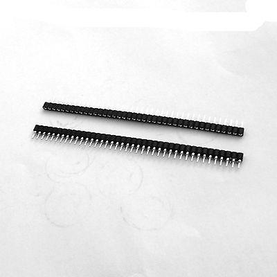 100pcs 1x40 Pin Round Single Row IC Socket Female Pin Header