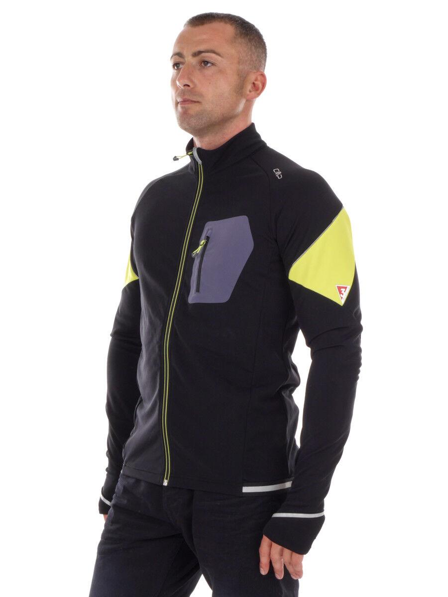 CMP Multisport Jacke Fleecejacke Radjacke schwarz Stretch Dryfunction