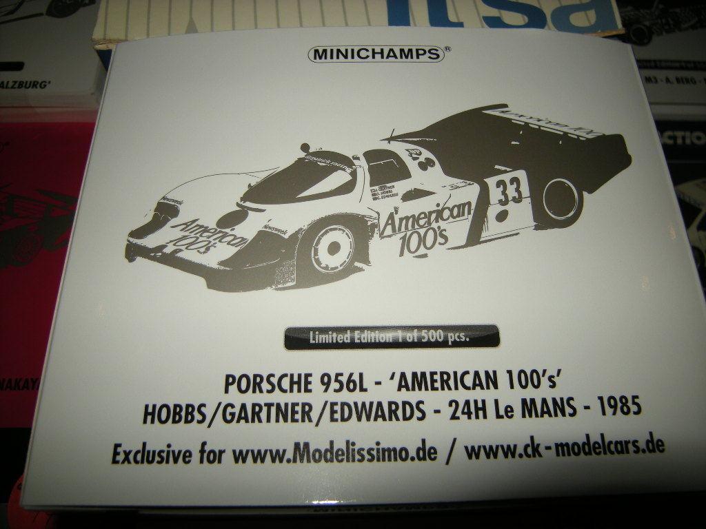 1 18 Minichamps Porsche 956l American 100's 24h Le Mans 1985 Limited Edition Boxed