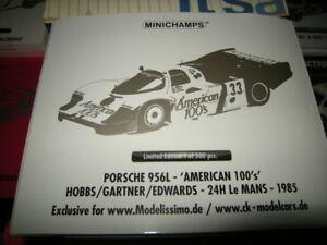 1-18-Minichamps-Porsche-956L-American-100-039-s-24H-Le-Mans-1985-Limited-Edition-OVP