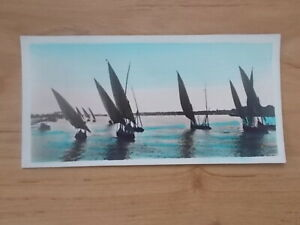 VINTAGE-POSTCARD-SAILING-BOATS-ON-THE-NILE-CAIRO-EGYPT-6509