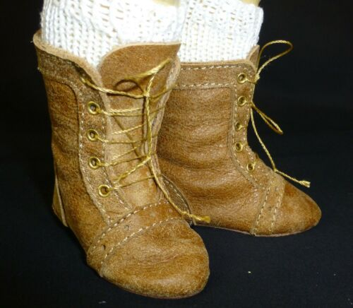 Pelle Italiana 85mm tutti gli stivali in pelle per Bambola Antico Scarpe,