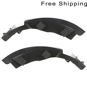 Front LH And RH Side Pair Upper Plastic Bumper Bracket Fits Jeep Cherokee