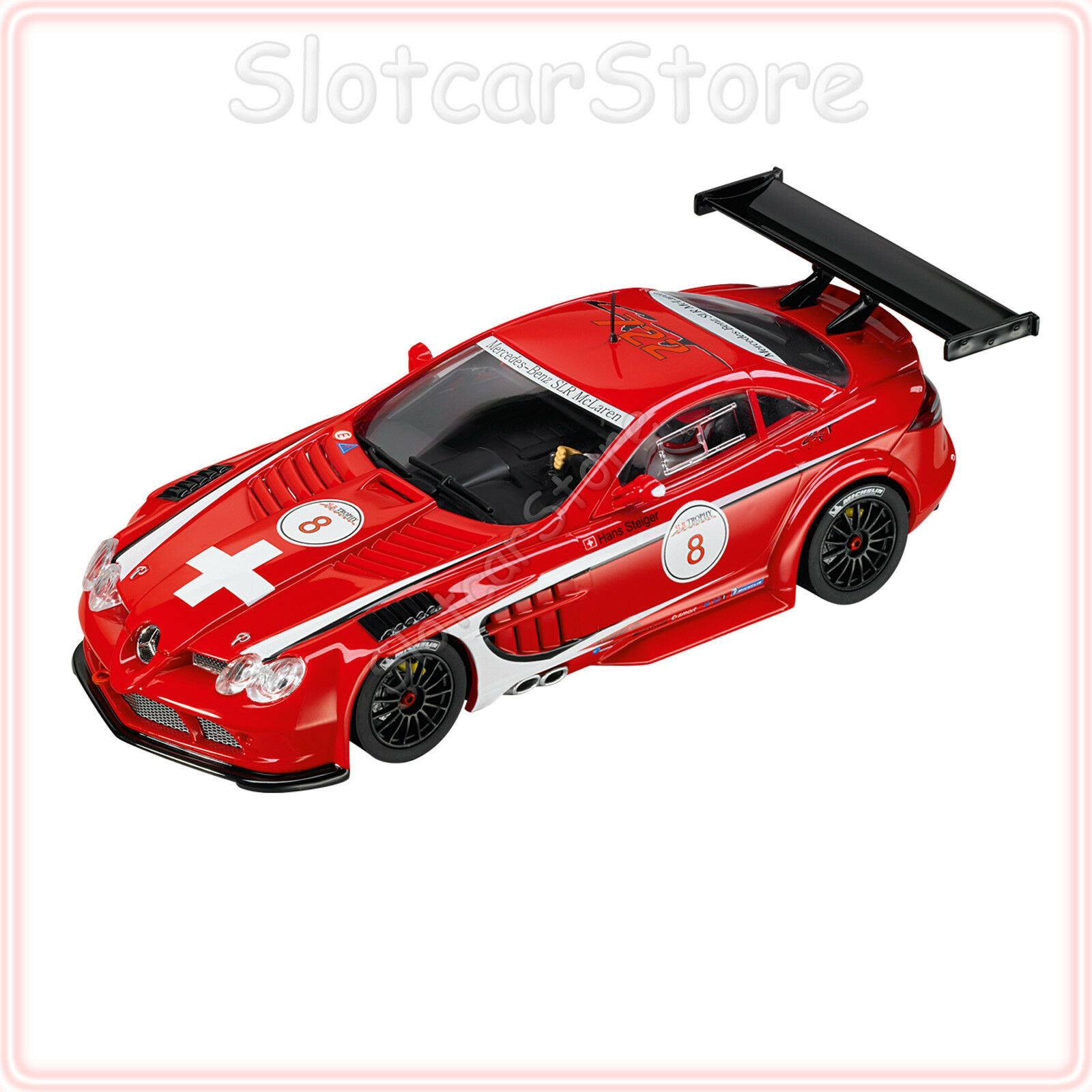 Carrera Evolution 27318 27318 27318 Mercedes-Benz SLR McLaren 722 GT 2008  No.8  1 32 Auto 0fd8b0