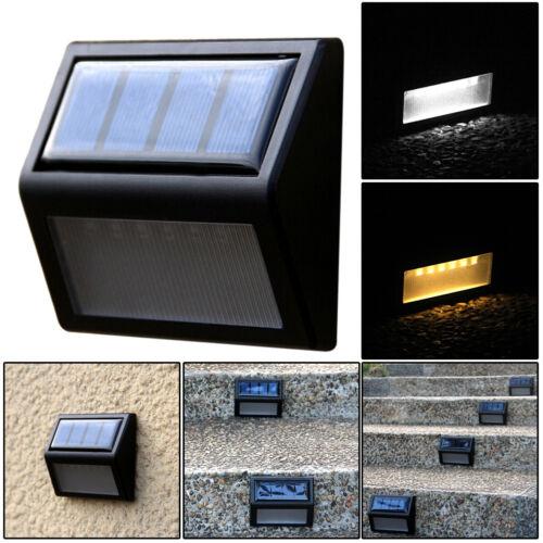 Outdoor Solar Power 6 LED Wall Light Garden Security Path Lamp Waterproof New
