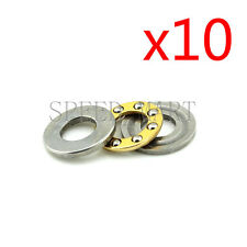 uxcell F6-14M Miniature Thrust Ball Bearings 6mm x 14mm x 5mm Chrome Steel with Washers 10 Pcs