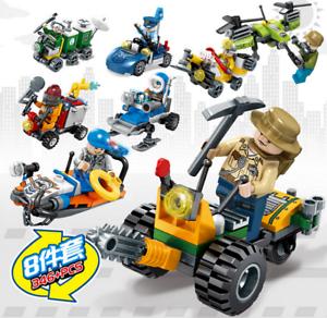 Sembo-Blocksteine-Feuerwehrbedarf-Militaerfahrzeuge-Figuren-Spielzeug-Geschenk