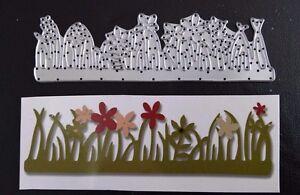 Sizzix-Die-Cutter-GRASS-FLOWER-GARDEN-FLOWERS-Thinlits-fits-Big-Shot-Cuttlebug