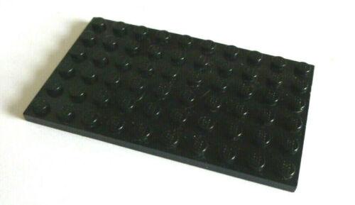 1 x LEGO® 3033 flache Bau-Platte 6 x10 Noppen beidseitig bebaubar schwarz.