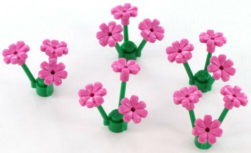 3741 Blüte NEU 32606 6206151 5x LEGO Stein Blumen pink mit Stengel//Stiel