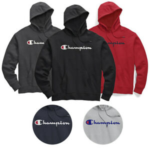 Champion-Men-039-s-CH327HD-Big-amp-Tall-Script-Logo-Front-Pocket-Hoodie