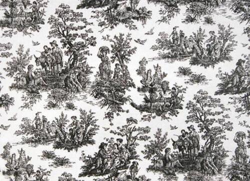 Drapery recouvert de tissu 100/% coton Canard Jamestown Toile-Noir//Blanc