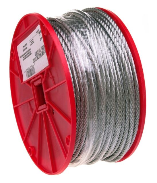 """200 Feet 5//16/"""" Galvanized Aircraft Cable Steel Wire Rope 7x19"""