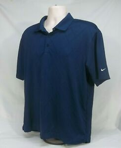 Men-039-s-Nike-Golf-Dri-Fit-Short-Sleeve-Polo-Shirt-Blue-Size-Medium