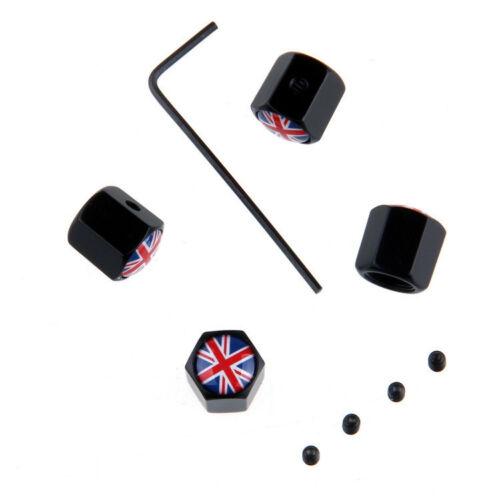 Tappi Valvola X4 per auto union jack Bandiera inglese Austin Mini Cooper S