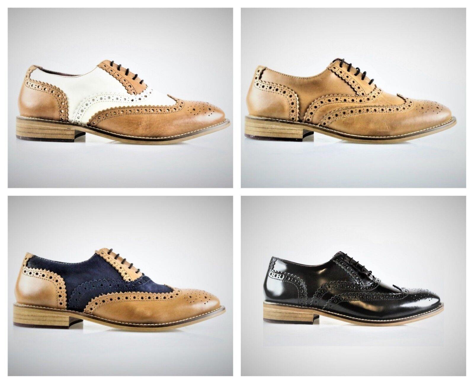Boys London Brogues Gatsby Leather Formal Smart Brogue schuhe Junior Größes 3-6