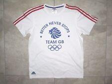 Adidas Rio 2016 Olympics Team GB England Great Britain White SMALL Shirt USED