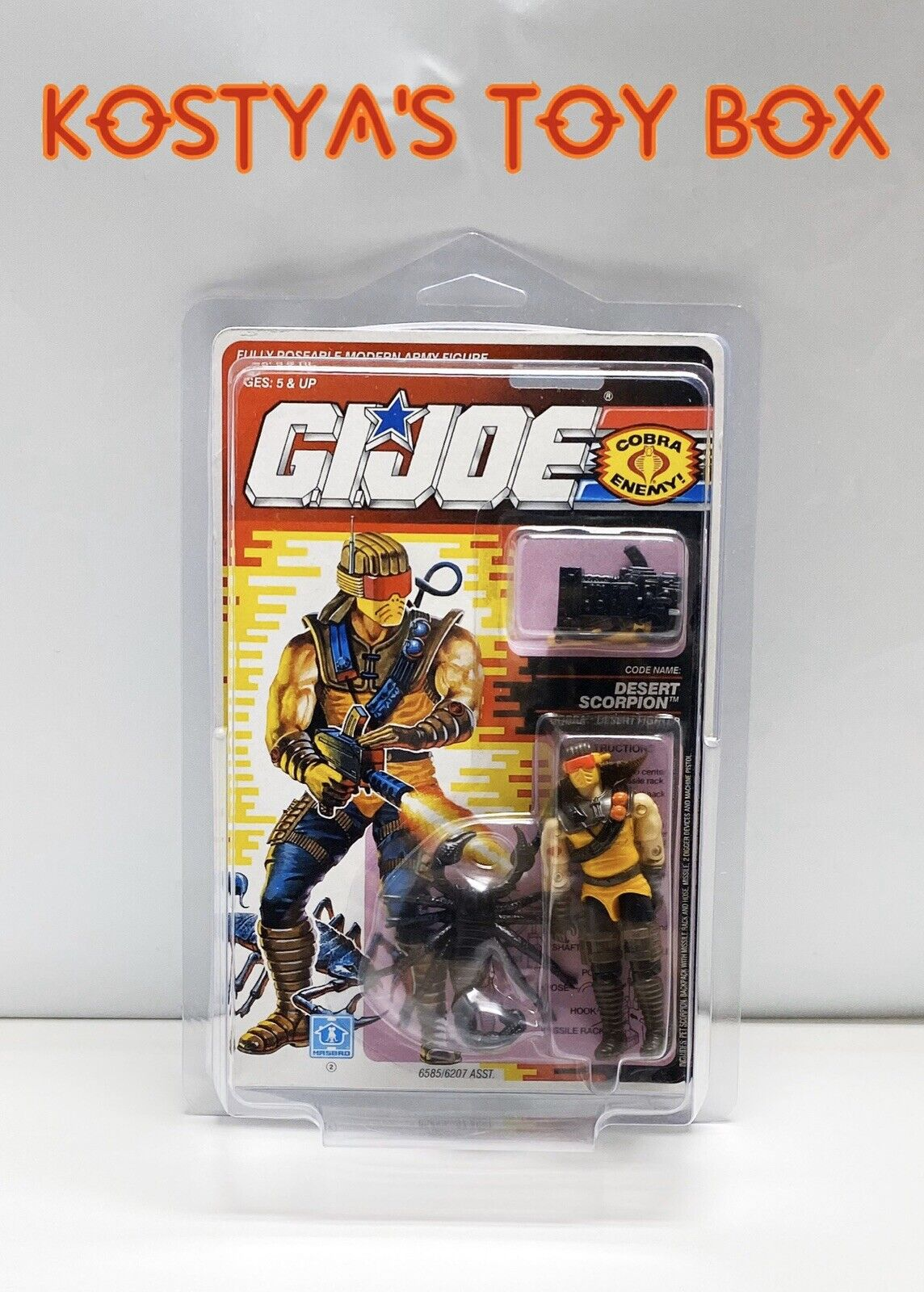 GI Joe Cobra DESERT SCORPION 1991 MOC Hasbro New Factory Sealed Action Figure