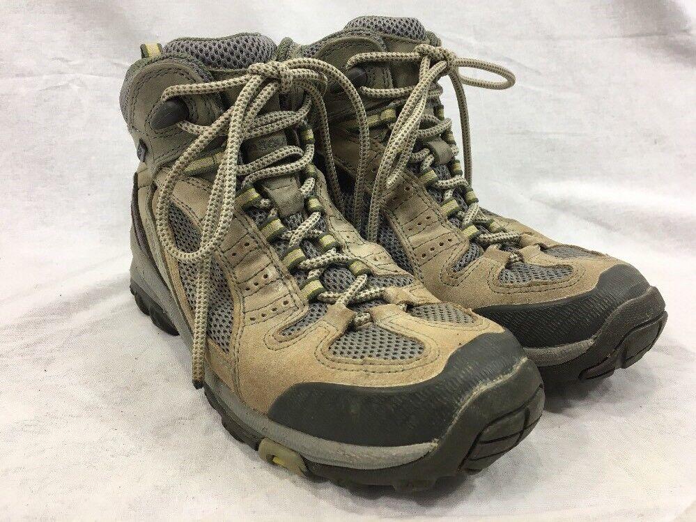 Vasque 7473 ALPHA GTX Suede GoreTex Hiking Trail Boots Beige Womens 7M Mesh