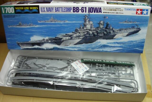 31616 U s  Navy Battleship USS Iowa Bb-61 Tamiya 1/700 Plastic Model Kit