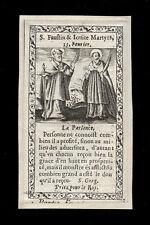 santino incisione 1600 SS.FAUSTINO E GIOVITA MM. DI BRESCIA