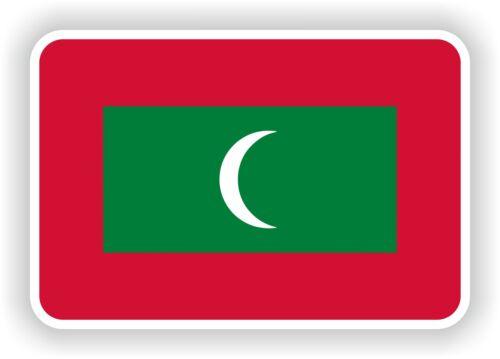 "Maldives flag sticker 2.8x4/""Bumper Decal Car Fridge Tablet Door Bike Book Truck"