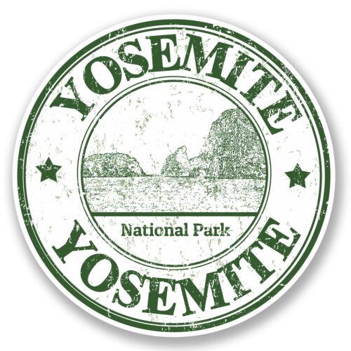 2 x 10cm Yosemite USA Vinyl Sticker iPad Laptop Car Flag Luggage Travel #5484