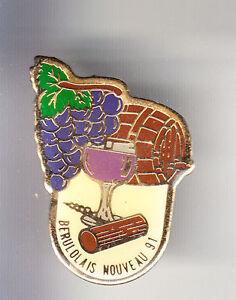 RARE-PINS-PIN-039-S-ALCOOL-VIN-WINE-VIGNE-BOURGOGNE-BEAUJOLAIS-NOUVEAU-1991-B4