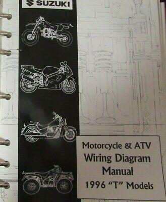 Oem 1996 Suzuki T Models Motorcycle Atv Wiring Diagram Manual Loose Leaf Ebay