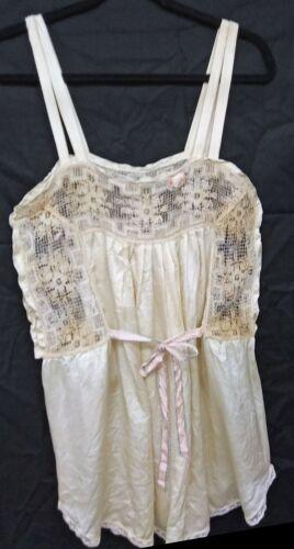 Vintage Victorian/Edwardian Lace Silk? Camisole Co
