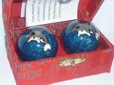 Other Asian Antiques Sfere Salute Induismo Buddha Meditazione Delfino Agopuntura Meridiani Chakra 100% Guarantee
