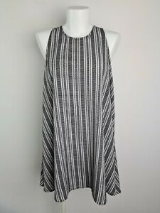 All-About-Eve-MYER-Black-amp-White-Striped-Tent-Drape-Beach-Dress-Women-039-s-Size-10