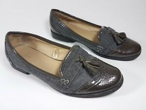 Next Shoes 5 Patent Flat Leather Fabric Uk 38 Eu Tassel q1RwXqr