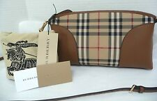 e2ae51243fcb Burberry Overdyed Horseferry Check Leather Clutch - Ash Rose dusty ...