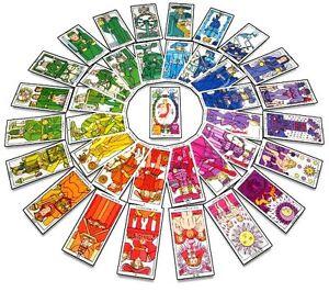 Tarot-chromatique-Mandala-jeu-de-cartes-divinatoire-oracle-Format-poche