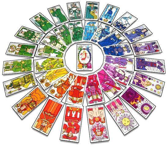 Tarot chromatique - Mandala - jeu de cartes divinatoire oracle (Format poche)