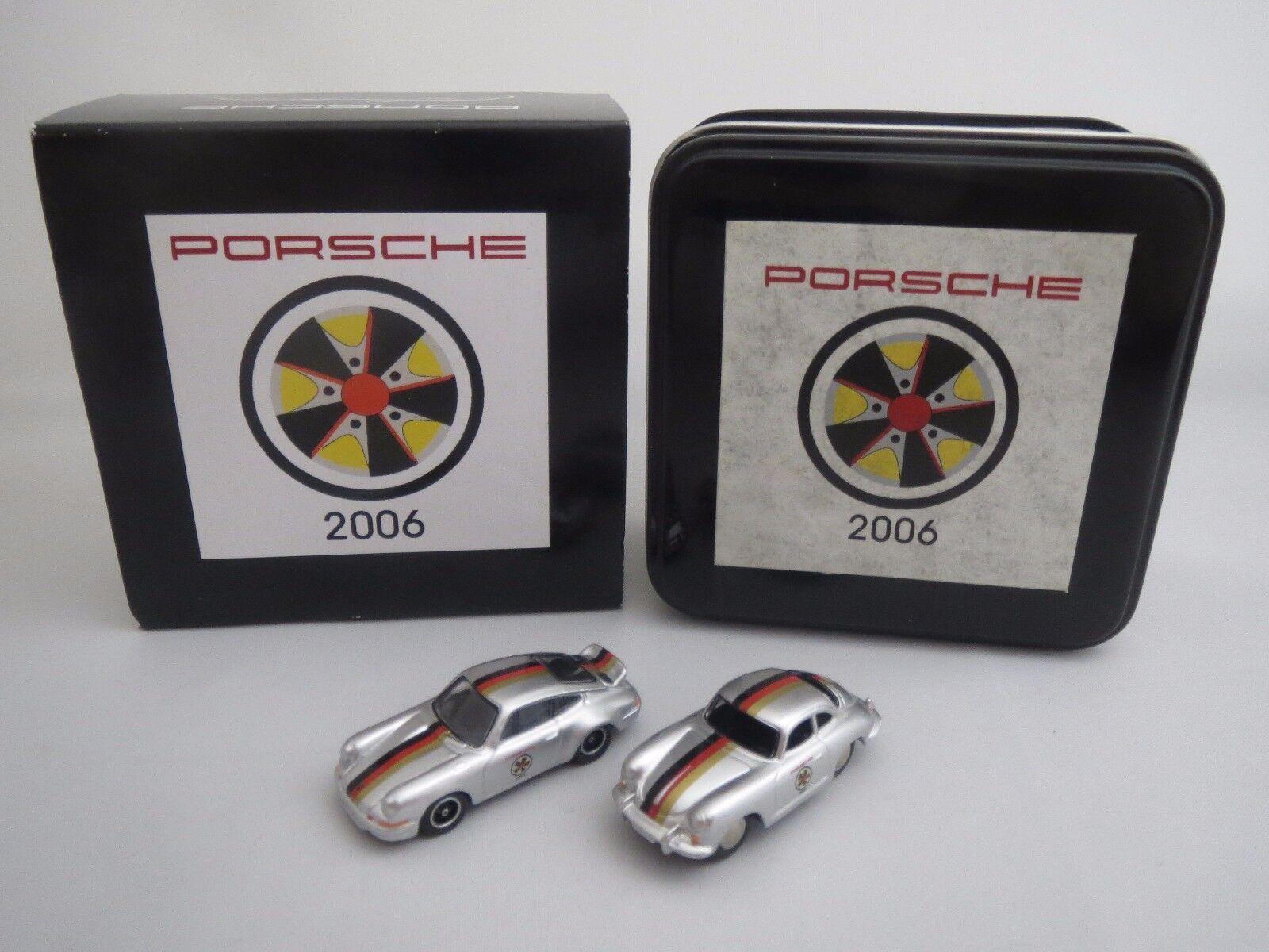 Bouèbe PORSCHE  2006  Porsche Carrera 2.7 RS & Porsche 356b Coupè 1 87 Neuf dans sa boîte
