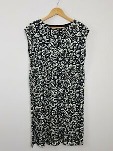 COUNTRY ROAD Black Tropical Floral Shift Tent Dress Women's Size XS Cotton Soft