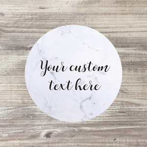 37mm Personalised Round Labels//Stickers Wedding Business Logo Birthday ANY WORDS