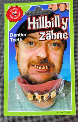 Scherzgebiss Hillbilly Zähne Scherzartikel Helloween Ekelzähne Funzähne 1510