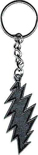 56035 Grateful Dead Lightning Bolt Metal Key Ring Chain Fob Keychain Keyring NEW