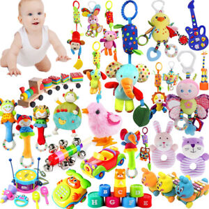 Baby-Infant-Kid-Early-Learn-Plush-Animal-Stroller-Hanging-Bell-Play-Toy-Gift-Lot