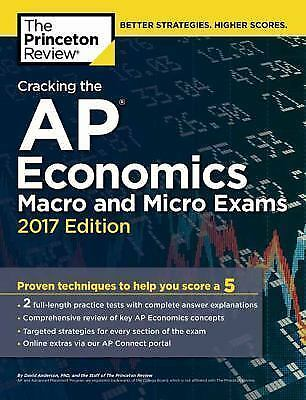 College Test Preparation: Cracking the AP Economics Macro and Micro Exams,  2017 Edition by Princeton Review Staff (2016, Paperback)