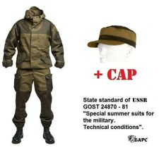 "Gorka 3 ""BARS"" original russian army special uniform cotton suit khaki camo +cap"
