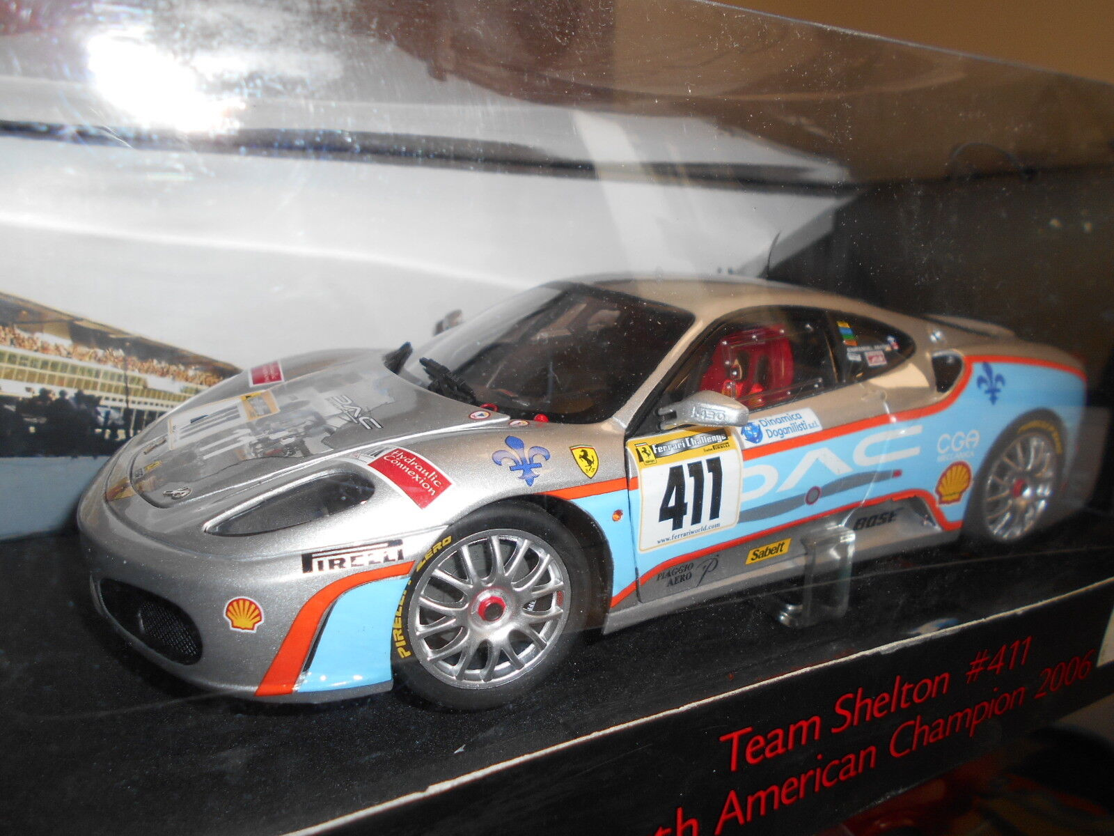 HWEL7115 by HOT WHEELS ELITE FERRARI F 430 TEAM SHELTON  411 1 18