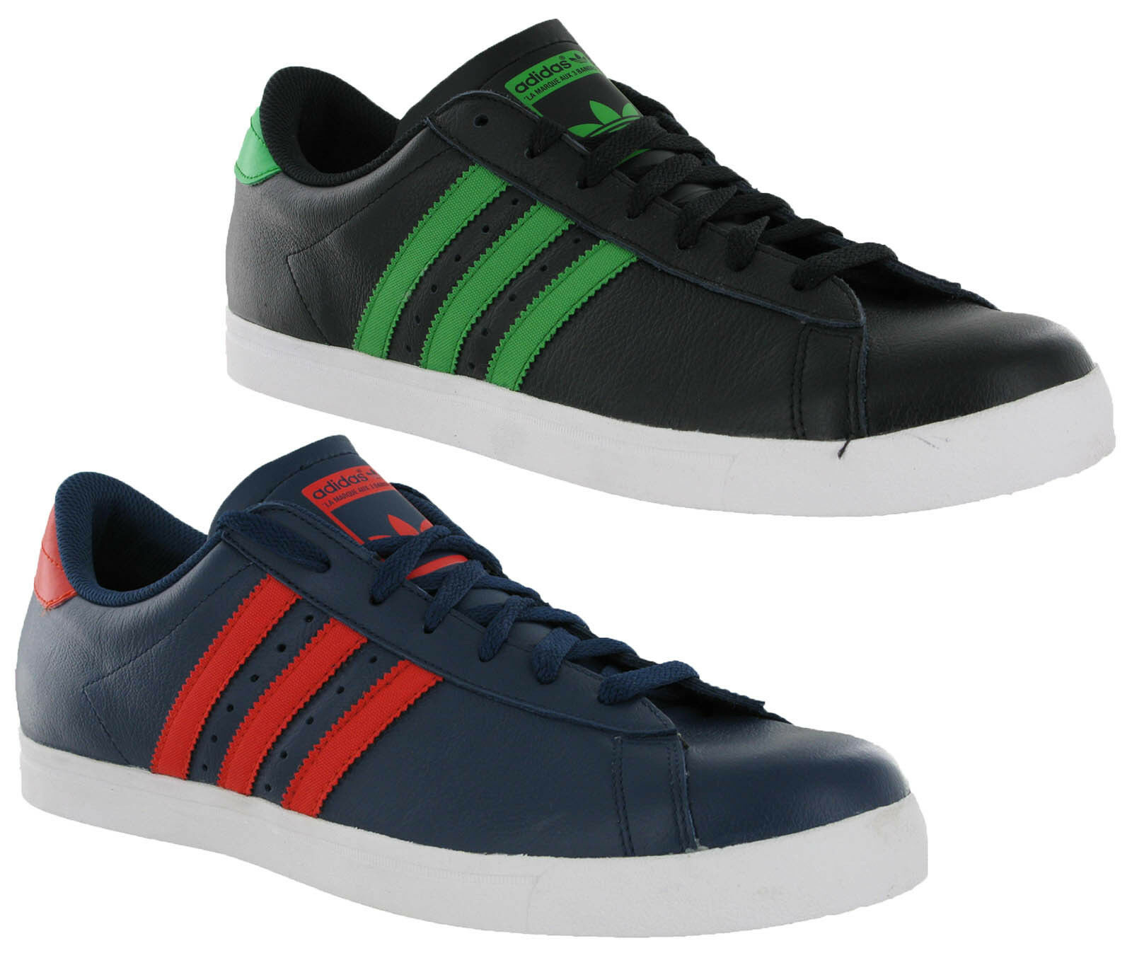 Adidas Original Greenstar Leather Lace Up Casual Fashion Mens Trainer Shoe