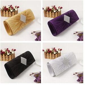 Chic-Women-Satin-Rare-Wedding-Bridal-Evening-Party-Clutch-Purse-Bag-Handbag-E