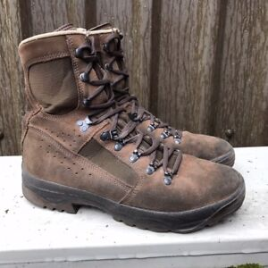 UK-BRITISH-ARMY-SURPLUS-MEINDL-renard-du-desert-Bottes-en-daim-marron-en-cuir-Combat-boot