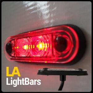 HELLA-TYPE-RED-QUICK-FIT-LED-MARKER-LIGHT-12-24V-SLIM-LOW-PROFILE