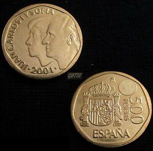 *gutse* J. Carlos I>9, 500 Pesetas 2001, Sin Circular. Excellente Qualité